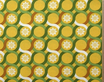 Joel Dewberry fabric Deer Valley Meadow Lace JD26 Goldenrod yellow brown green fabric circles 100% Cotton fabric by the yard Sewing Quilting