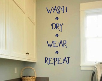 Laundry Room Decal   Wall Art   Matt Vinyl Decals   Laundry Sign   Wash * Part 83