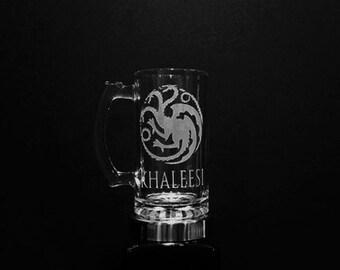 House Targaryen Mug - PERSONALIZED Game of Thrones Mug - House of Targaryen Beer Mug - House of Targaryen Crest