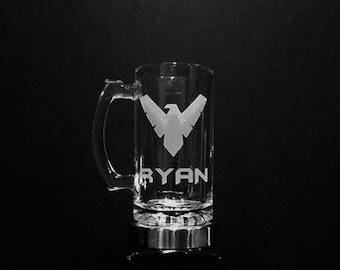 Nightwing Mug - PERSONALIZED Nightwing Mug  - NIGHTWING Beer Mug