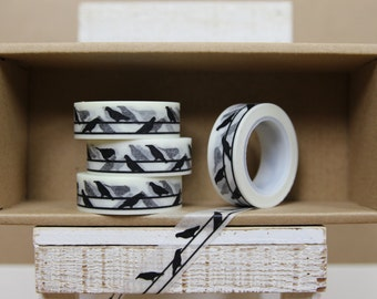 Washi Tape - black birds on wire print  - P18