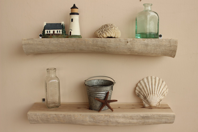 Driftwood wall shelves 16 set of 2 natural for Driftwood wall shelves