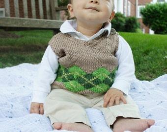 Boy's Argyle Sweater Vest