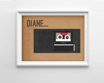 Twin Peaks Diane Art Print - 8x10