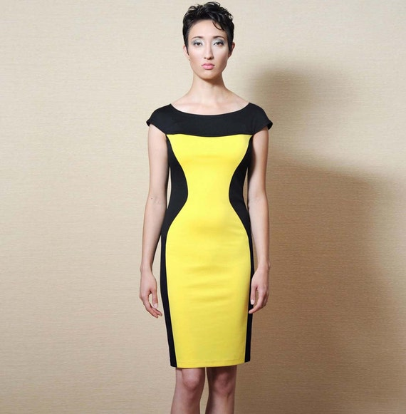 Wedding Gowns For Hourglass Figures: Items Similar To Handmade, Color Block, Slimming