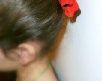 Polymer clay poppies poppy bobby pins (set of 2)