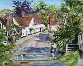 Village Scene (Water Colour)