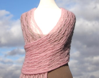 Mohair Lace Knitting Pattern Free : bridal shawl, wedding shawl, knit shawl, knit wrap, knit ...
