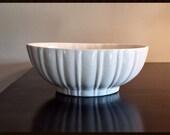 Vintage Haeger Art Pottery White Planter Bowl