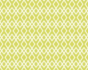 Lattice Fabric - Lula Magnolia by Quilted Fish for Riley Blake Designs C3774 Green - 1/2 Yard