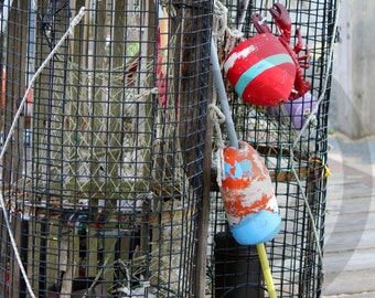 Lobster Trap & Lobster Buoys Provincetown Cape Cod