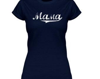 SALE * MAMA T-shirt | Navy | Size M / L (Gildan)