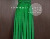 MAXI Emerald Green Bridesmaid Dress Convertible Dress Infinity Dress Multiway Dress Wrap Dress Green Wedding Prom Dress Long Full Length