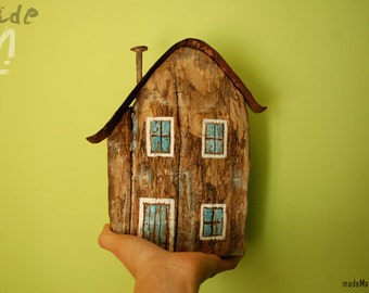 House Recycled Wood. Unique!