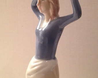 Young French Maiden Porcelain Figurine