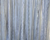 Romantic Lace Ribbon Backdrop Wedding - Baby Shower - Nursery - Fabric Garland - Lace Ribbon -  20 ft x 6 ft