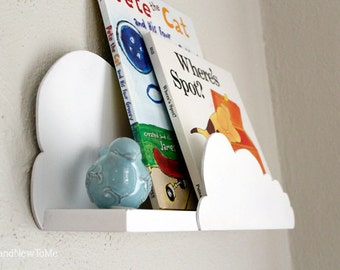 Handmade Cloud Shelf | Nursery Shelving | Baby Shower Gift | Cloud Shelves | Children's Room Decor | Baby Decor | Airplane Decor | Boy Decor