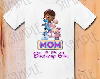 T-shirt Disney Doc Mcstuffins Iron On Transfer Printable Mom of the Birthday Girl digital download Personalized, Doc Mcstuffins shirt
