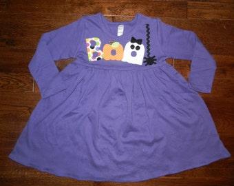 Halloween Dress-Boo appliqué halloween dress-you choose size and color