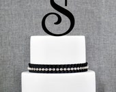 Monogram Cake Toppers Letter S : View Custom Cake Toppers by ChicagoFactory on Etsy