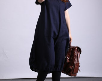 Comfortable Linen plus size dress for women