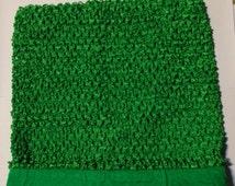 "Green 10"" LINED Crochet Tutu Top, XLarge tutu top, lined crochet top, 10"" top, 10"" lined tutu top, tutu top for older children"