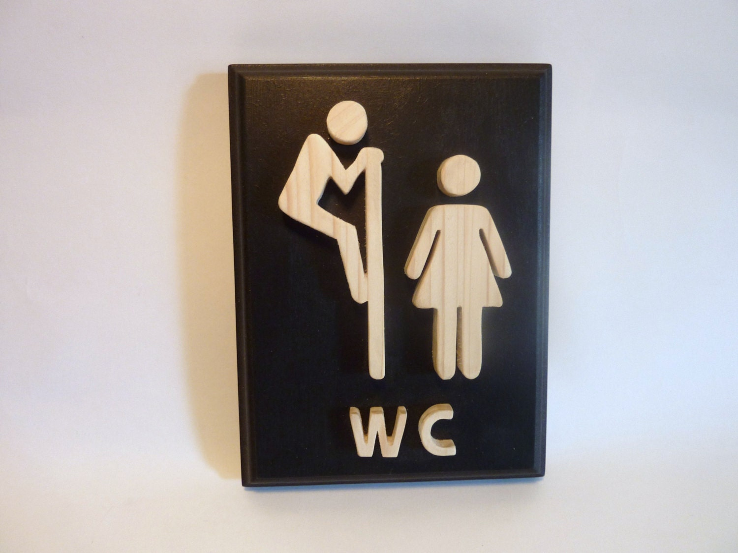 Cute Bathroom Door Signs Funny Wooden Black Bathroom