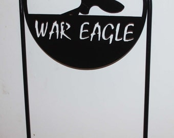 "Licensed Auburn University ""War Eagle""  Metal Yard Sign"