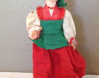 Vintage Magis Tiovoli  Felt/Cloth Capri International Doll Italy-Estate Sale Find!