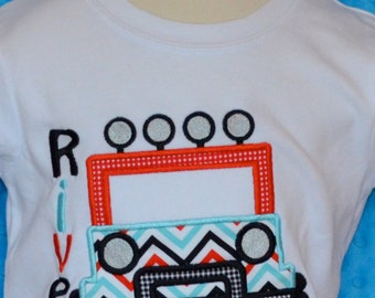 Personalized Jeep Applique Shirt or Onesie Boy or Girl