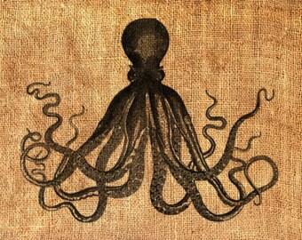 Squid stencil | Etsy