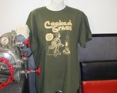 CLEARANCE - Cooked Grass Skeleton T-Shirt! Folk Jamband Music Hippie Shirts!