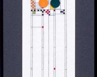 Frank Lloyd Wright Art Glass III Cross Stitch Kit