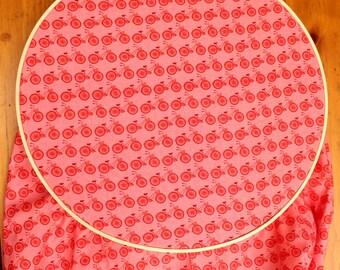 Bicycle Baby Bedding - Red Crib Sheet - Bicycle Toddler Sheet - Bike Crib Sheet - Red Baby Bedding - Pink Crib Sheet - Bicycle Crib Sheet