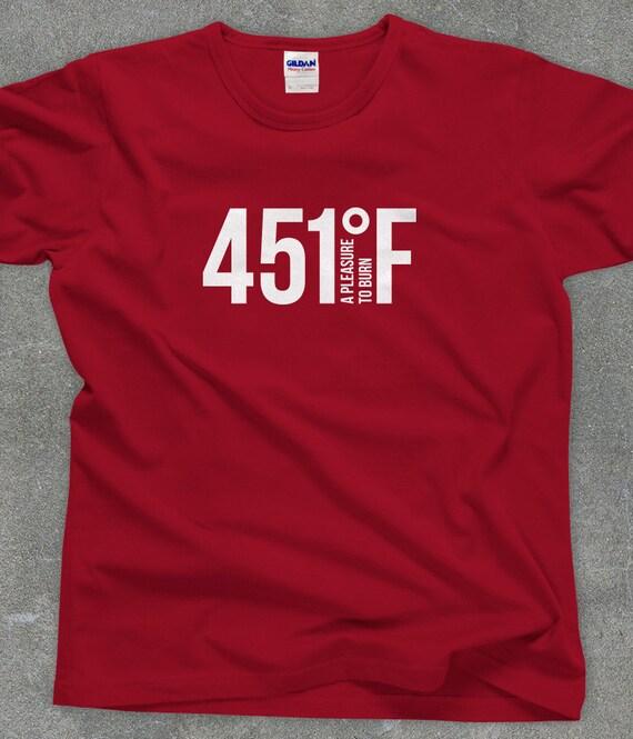 Fahrenheit 451 literary t shirt Ray Bradbury shirt screen printed tee - You Choose Color