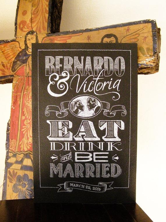 Chalkboard Sign - Wedding Celebration