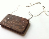 CUSTOM single constellation necklaces made of wood & silver