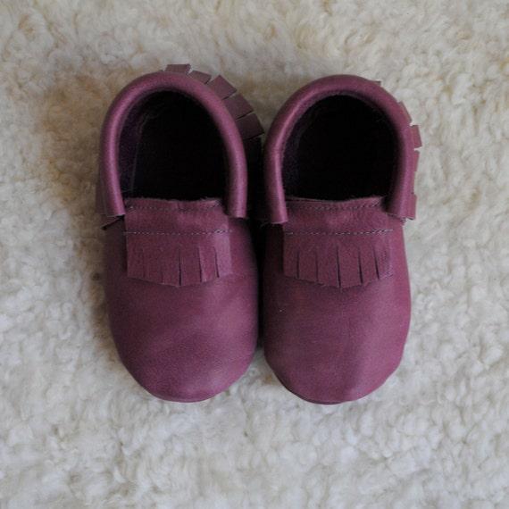 Pink moccasins