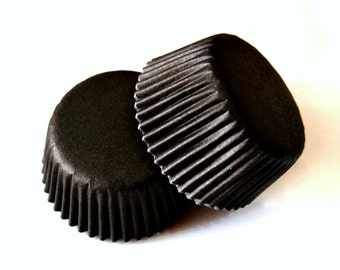 Solid Black Cupcake Liners