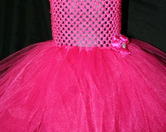 Fuchsia Tutu Dress, Tutu Dress, Newborn to 6T Tutu Dress, Bright Pink Tutu Dress, Pink Tutu Dress