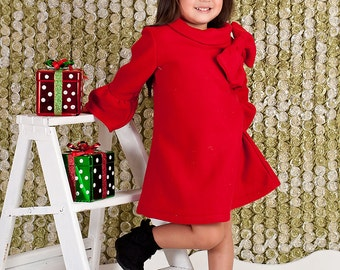 12m-5t Chic fleece long sleeve dress