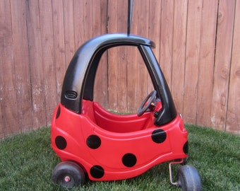 Ladybug Car Cozy Coupe Kit Vinyl Sticker and Tutorial Package