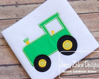 Tractor Applique embroidery Design - tractor Applique Design - farm Appliqué Design