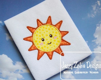 Sun 27 Appliqué embroidery Design - sun Appliqué Design - summer Applique Design