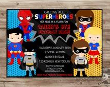 SUPERHERO Invite, Superhero Invite Boys Girls superhero invitation invite Superhero Invite Superhero Invitation Digital Printable: JPG File