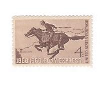 10 Unused Vintage Postage Stamps - 1960 4c Pony Express - No. 1154