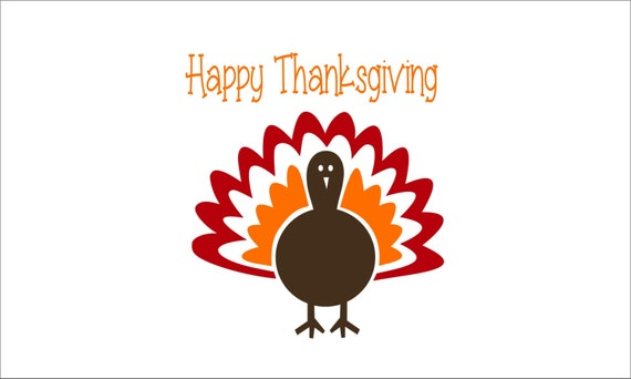 Items similar to thanksgiving decor happy thanksgiving wall sticker decal hs6 happy - Thanksgiving decorations on sale ...