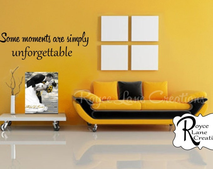 """Some Moments Are Simply Unforgettable"" Photo Wall Display Decal"