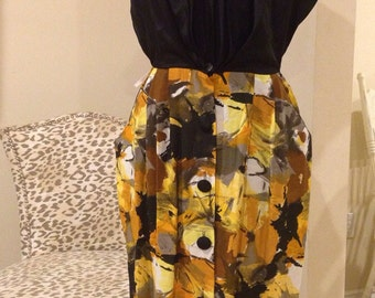 Vintage 1980's Does 1950's Rockabilly Classic Wiggle Dress