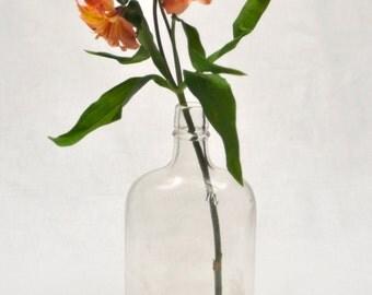 Clear Vintage Glass Bottle